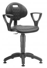 židle 1290 3009 PU NOR, plast, kluzáky kancelárská stolička