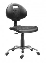 židle 1290 3109 PU NOR, chrom, kluzáky kancelárská stolička