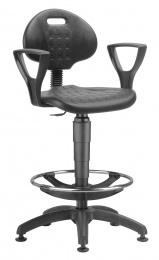 židle 1290 3059 PU NOR, plast, extend, kluzáky kancelárská stolička