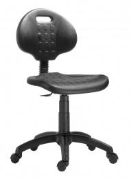 židle 1290 3000 PU NOR, plast, kolečka kancelárská stolička