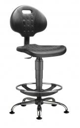 židle 1290 3159 PU NOR, chrom, extend, kluzáky kancelárská stolička