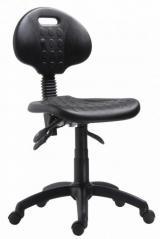 židle 1290 5009 PU ASYN, plast, kluzáky kancelárská stolička