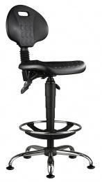 židle 1290 5159 PU ASYN, chrom, extend, kluzáky kancelárská stolička