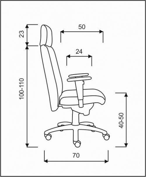 křeslo NONSTOP pro 24 hodinový provoz kancelárské kreslo