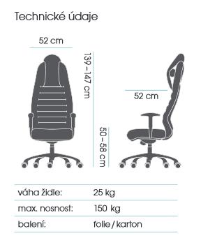 zátěžové křeslo BRUTO 7290 kancelárské kreslo