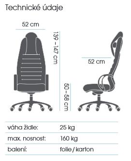 zátěžové křeslo BRUTO 7190 kancelárské kreslo