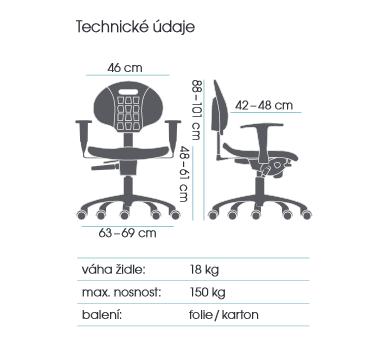 židle TECHNOLAB 1530  kancelárská stolička