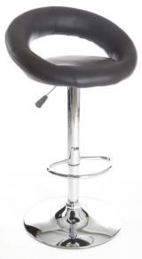 barové židle UTAH černá kancelárská stolička