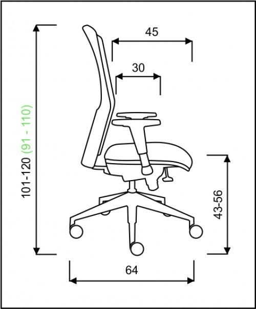 židle REFLEX ŠÉF,T-SYNCHRO kancelárská stolička