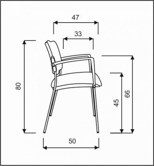 plastová židle SQUARE  kancelárská stolička