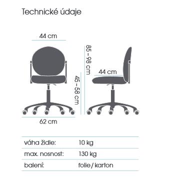 židle MEDISIT 4302 kancelárská stolička