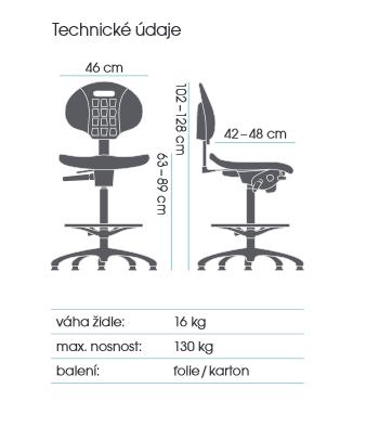 židle TECHNOLAB 1600  kancelárská stolička