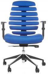 židle FISH BONES černý plast,modrá látka TW10 kancelárská stolička