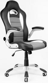 kancelářské křeslo LOTUS černo-šedé kancelárské kreslo