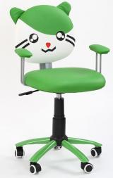 Dětská židle Tom zelená kancelárská stolička