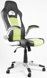 kancelářské křeslo LOTUS černo-zelené kancelárské kreslo
