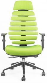 židle FISH BONES PDH černý plast, zelená SH06 kancelárská stolička