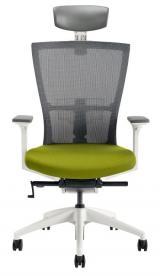 židle MERENS WHITE s podhlavníkem kancelárská stolička