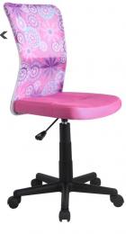Halmar Dětská židle DINGO - barva růžová kancelárská stolička