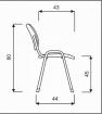 židle ISO, F13-šedá kancelárská stolička