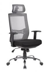 židle MARIKA YH-6068H šedá kancelárská stolička