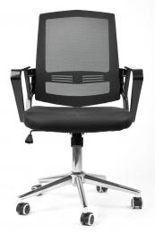 židle SUN, černé područky, černý opěrák, černý sedák kancelárská stolička