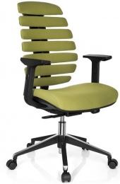 židle FISH BONES šedý plast, oliva 26-32 kancelárská stolička