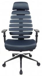 židle FISH BONES PDH černý plast, šedá  TW12 kancelárská stolička