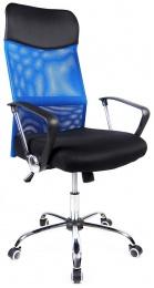 kancelářská židle PREZIDENT modrý kancelárská stolička