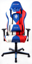 židle DXRACER OH/RZ57/IWR Czech Republic Edition kancelárská stolička