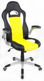 kancelářské křeslo LOTUS černo-žluté kancelárské kreslo