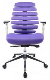 židle FISH BONES šedý plast, FX2054-06 fialová, Sleva č.639 kancelárská stolička
