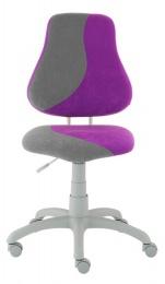 dětská židle FUXO S-line fialovo-šedá kancelárská stolička