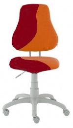 dětská židle FUXO S-line oranžovo-vínová kancelárská stolička