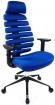 židle FISH BONES PDH černý plast,modrá látka TW10 kancelárská stolička