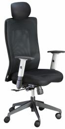 židle LEXA s podhlavníkem černá, sleva č. SEK1042 kancelárská stolička