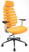 židle FISH BONES PDH šedý plast, oranžová 26-65, sleva č. SEK1068 kancelárská stolička