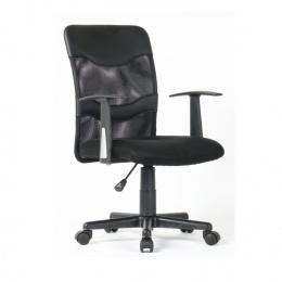 Kancelářské křeslo, síťovina černá / plast, OBALA kancelárské kreslo