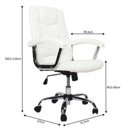 Kancelářské křeslo LIONEL, bílá kancelárské kreslo