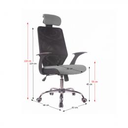 Kancelářská židle REYES NEW, šedá kancelárská stolička
