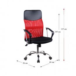 Kancelářská židle TC3-973M 2 NEW - červená kancelárská stolička