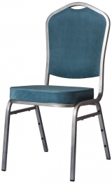 banketová židle Standard Line ST830 modro - stříbrné kancelárská stolička
