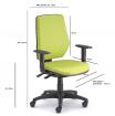 židle LEX asynchro 230/BW kancelárská stolička