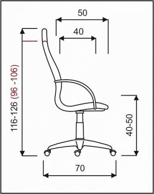 křeslo PALERMO ŠÉF dřevo, základní mechanika kancelárské kreslo