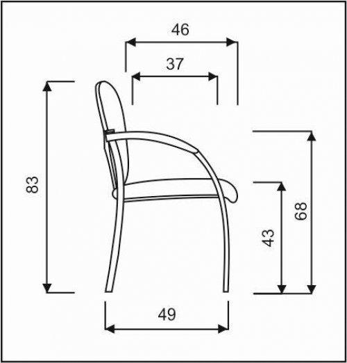 židle NEON černý plast, dřevěné područky kancelárská stolička