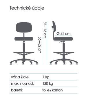 židle MEDISIT 1162 kancelárská stolička