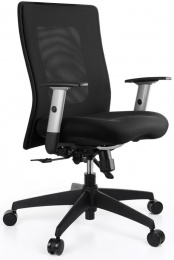židle LEXA bez podhlavníku, černá kancelárská stolička