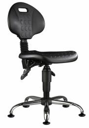 dielenská stolička 1290 5109 PU ASYN, chrom, klzáky