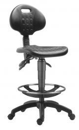 židle 1290 5050 PU ASYN - plast, extend + kolečka kancelárská stolička