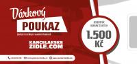 Dárkový poukaz na 1500 Kč